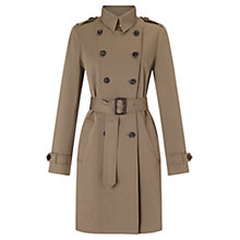 Buy Jigsaw Trench Coat, Khaki Online at johnlewis.com