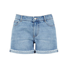 Buy Warehouse Denim Turn Up Shorts, Mid Wash Online at johnlewis.com