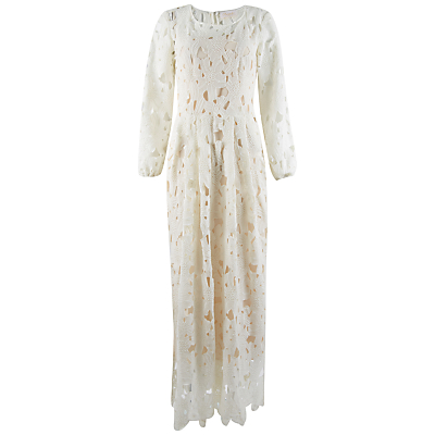 Closet Bell Sleeve Side Split Maxi Dress, Ivory