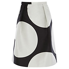 Buy Coast Gwndlyn A-line Skirt, White/Black Online at johnlewis.com