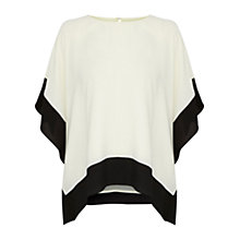 Buy Coast Carolina Cold Shoulder Top, White/Black Online at johnlewis.com