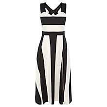 Buy Coast Electra Stripe Dress, Black/White Online at johnlewis.com