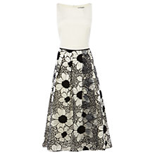 Buy Coast Roccabella Jacquard Dress, White/Black Online at johnlewis.com