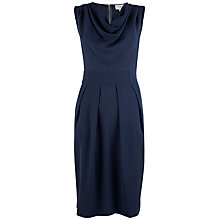 Buy Closet Cowl Neck Tie Back Dress, Navy Online at johnlewis.com