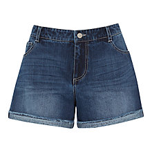 Buy Warehouse Turn Up Shorts, Dark Wash Online at johnlewis.com