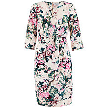 Buy Closet Crossover Floral Tie Front Dress, Multi Online at johnlewis.com
