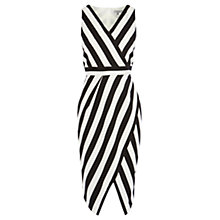 Buy Coast Ishani Stripe Shift Dress, Black/White Online at johnlewis.com