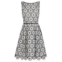 Buy Coast Tallulah Lace Dress, Black/White Online at johnlewis.com