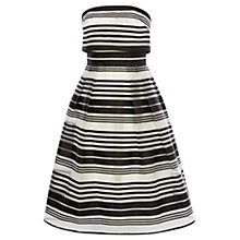 Buy Coast Evie Stripe Bandeu Dress, Black/White Online at johnlewis.com