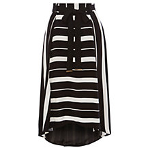 Buy Coast Cattrel Stripe Skirt, Black/White Online at johnlewis.com