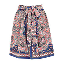 Buy Oasis Paisley Paper Bag Skirt, Multi Online at johnlewis.com