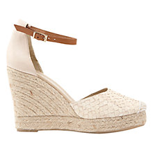Buy Mint Velvet Briony Wedged Heel Sandals, Nude Online at johnlewis.com