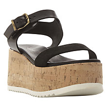 Buy Dune Black Landing Flatform Sandals Online at johnlewis.com