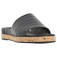 Buy Dune Black Lackey Slip On Sandals, Black Online at johnlewis.com