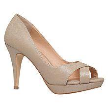 Buy Miss KG Georgina Peep Toe Stiletto Sandals, Gold Online at johnlewis.com