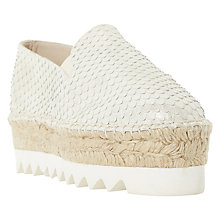 Buy Dune Black Georga Flatform Espadrilles Online at johnlewis.com