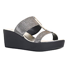 Buy Carvela Comfort Sapphire Wedge Heeled Sandals, Metal Comb Online at johnlewis.com