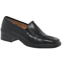 Buy Gabor Frith Extra Wide Block Heeled Court Shoes, Black Online at johnlewis.com
