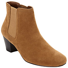 Buy John Lewis Hope 2 Block Heeled Ankle Boots, Tan Online at johnlewis.com