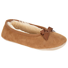 Buy John Lewis Sheepskin Ballet Slippers, Chestnut Online at johnlewis.com
