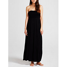 Buy Beach by Mint Velvet Jersey Bandeau Maxi Dress, Black Online at johnlewis.com