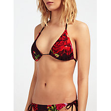 Buy Ted Baker Jusara Juxtapose Rose Bikini Top, Grape Online at johnlewis.com