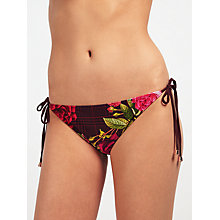Buy Ted Baker Jusara Juxtapose Rose Bikini Briefs, Grape Online at johnlewis.com