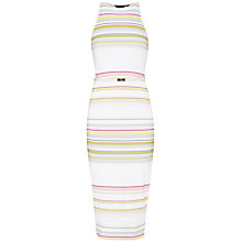 Buy Ted Baker Danabel Carousel Stripe Bodycon Midi Dress, Olive Online at johnlewis.com