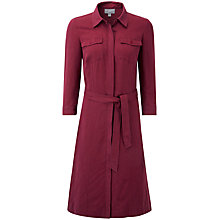 Buy Pure Collection Alexandra Shirt Dress, Summer Claret Online at johnlewis.com