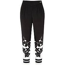 Buy Ted Baker Floral Printed Trousers, Black Online at johnlewis.com
