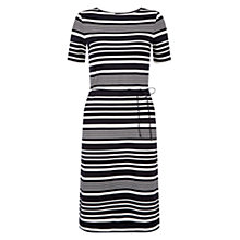 Buy Hobbs Imelda Dress, Navy/Ivory Online at johnlewis.com