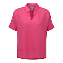 Buy Pure Collection Maya Laundered Linen Collared Top Online at johnlewis.com