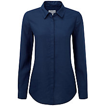 Buy Pure Collection Khloe Laundered Linen Shirt, French Navy Online at johnlewis.com