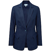 Buy Pure Collection Madeline Longline Jacket, French Navy Online at johnlewis.com