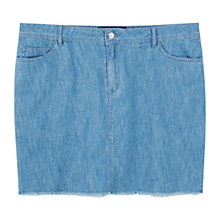 Buy Violeta by Mango Denim Mini Skirt, Open Blue Online at johnlewis.com