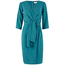Buy Closet Crossover Tie Three-Quarter Sleeve Dress, Teal Online at johnlewis.com
