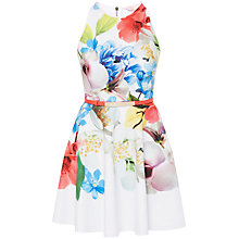 Buy Ted Baker Secil Forget-Me-Not Floral Dress, White Online at johnlewis.com