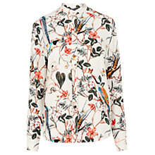 Buy Warehouse Floral Bird Print Blouse Online at johnlewis.com