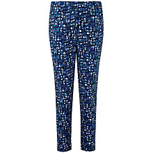 Buy Pure Collection Julia Capri Trousers, Turquoise Online at johnlewis.com