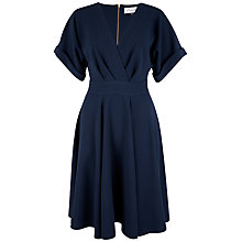 Buy Closet Crossover Flared Dress, Navy Online at johnlewis.com