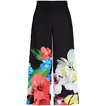 Buy Ted Baker Milinda Forget Me Not Culottes, Black Online at johnlewis.com