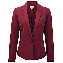 Buy Pure Collection Sophie Silk Fitted Jacket, Summer Claret Online at johnlewis.com