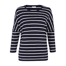 Buy Hobbs Emma T-Shirt, Navy Ivory Online at johnlewis.com