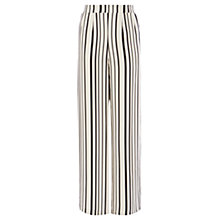 Buy Coast Havana Stripe Trousers, White/Black Online at johnlewis.com