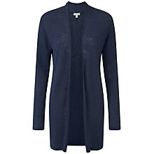 Buy Pure Collection London Longline Linen Cardigan, Navy Online at johnlewis.com