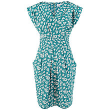 Buy Closet Floral Print Crossover Dress, Teal Online at johnlewis.com