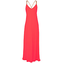 Buy Ted Baker Desile Cross Back Maxi Dress, Mid Orange Online at johnlewis.com