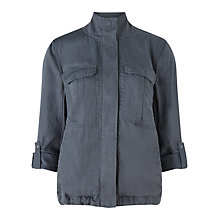 Buy Jigsaw Tencel Military Jacket, Storm Grey Online at johnlewis.com