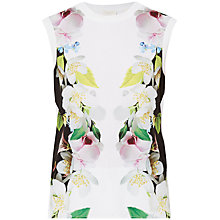Buy Ted Baker Sachah Forget Me Not Knitted Jumper, White Online at johnlewis.com
