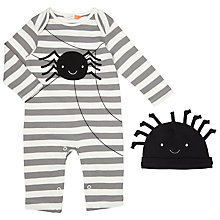 Buy John Lewis Baby Halloween Spider Playsuit and Hat Set, Grey Online at johnlewis.com